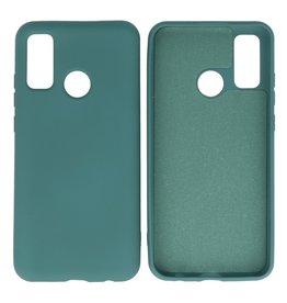 Huawei P Smart 2020 Hoesje Fashion Backcover Telefoonhoesje Donker Groen