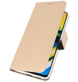 Booktype Telefoonhoesje Samsung Galaxy A90 Goud