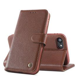 Echt Lederen Book Case Hoesje iPhone SE 2020 / 8 / 7 - Bruin