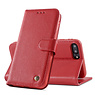 Echt Lederen Book Case Hoesje iPhone 8 Plus / 7 Plus - Rood