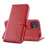 Echt Lederen Book Case Hoesje iPhone 11 - Rood