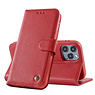 Echt Lederen Book Case Hoesje iPhone 11 Pro - Rood