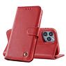 Echt Lederen Book Case Hoesje iPhone 12 Pro Max - Rood