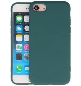 Fashion Color Backcover Hoesje iPhone SE 2020 / 8 / 7 - Donker Groen