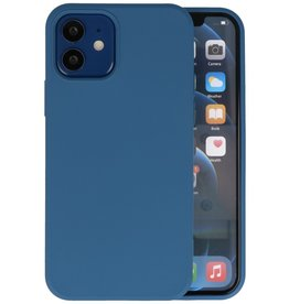Fashion Color Backcover Hoesje iPhone 12 Mini - Navy
