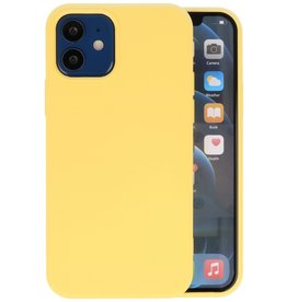 Fashion Color Backcover Hoesje iPhone 12 Mini - Geel