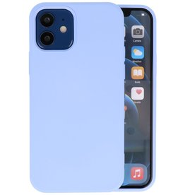 Fashion Color Backcover Hoesje iPhone 12 Mini - Paars
