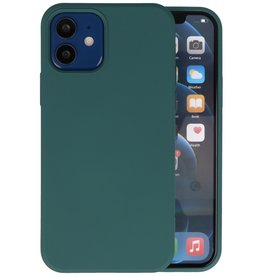 Fashion Color Backcover Hoesje iPhone 12 Mini - Donker Groen