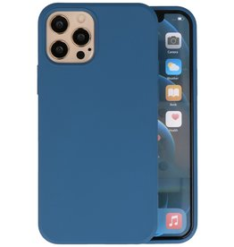 Fashion Color Backcover Hoesje iPhone 12 - 12 Pro - Navy