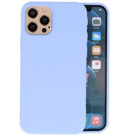 Fashion Color Backcover Hoesje iPhone 12 - 12 Pro - Paars