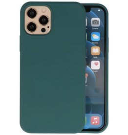 Fashion Color Backcover Hoesje iPhone 12 - 12 Pro - Donker Groen
