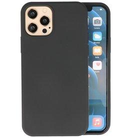 iPhone 12 Pro Max Hoesje Fashion Backcover Telefoonhoesje Zwart