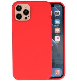 Fashion Color Backcover Hoesje iPhone 12 Pro Max - Rood