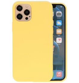 Fashion Color Backcover Hoesje iPhone 12 Pro Max - Geel