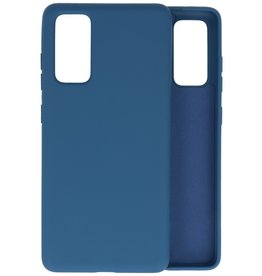 Fashion Color Backcover Hoesje Samsung Galaxy S20 FE - Navy