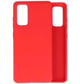 Fashion Color Backcover Hoesje Samsung Galaxy S20 FE - Rood