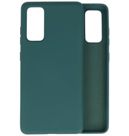 Fashion Color Backcover Hoesje Samsung Galaxy S20 FE - Donker Groen