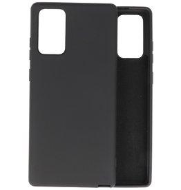 Samsung Note 20 Hoesje Fashion Backcover Telefoonhoesje Zwart