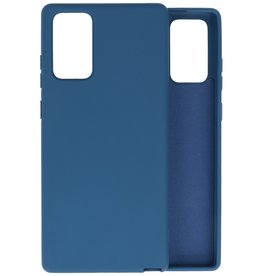 Fashion Color Backcover Hoesje Samsung Galaxy Note 20 - Navy