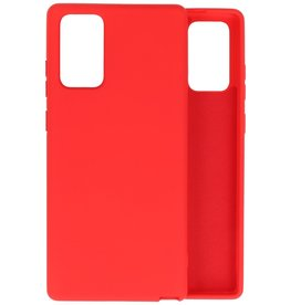 Fashion Color Backcover Hoesje Samsung Galaxy Note 20 - Rood