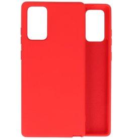 Samsung Note 20 Hoesje Fashion Backcover Telefoonhoesje Rood
