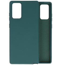 Samsung Note 20 Hoesje Fashion Backcover Telefoonhoesje Donker Groen