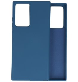 Fashion Color Backcover Hoesje Samsung Galaxy Note 20 Ultra - Navy