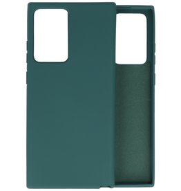 Fashion Color Backcover Hoesje Samsung Galaxy Note 20 Ultra - Donker Groen