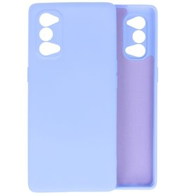 Oppo Reno 4 Pro 5G Hoesje Fashion Backcover Telefoonhoesje Paars