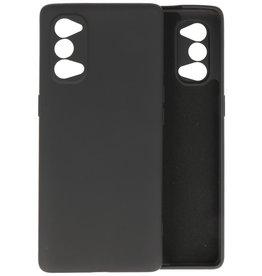 Oppo Reno 4 5G Hoesje Fashion Backcover Telefoonhoesje Zwart