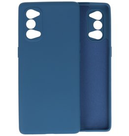 Fashion Color Backcover Hoesje Oppo Reno 4 5G - Navy