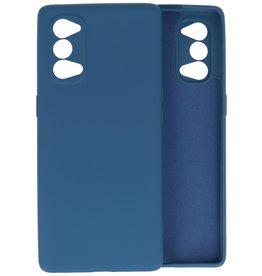 Oppo Reno 4 5G Hoesje Fashion Backcover Telefoonhoesje Navy