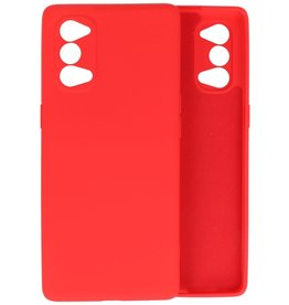 Fashion Color Backcover Hoesje Oppo Reno 4 5G - Rood