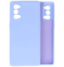 Oppo Reno 4 5G Hoesje Fashion Backcover Telefoonhoesje Paars