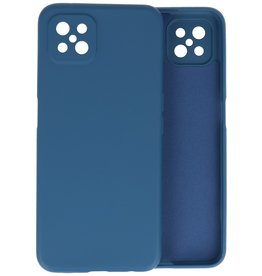 Fashion Color Backcover Hoesje Oppo Reno 4 Z - A92s - Navy