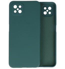Oppo Reno 4 Z & Oppo A92s Hoesje Fashion Backcover Telefoonhoesje Donker Groen