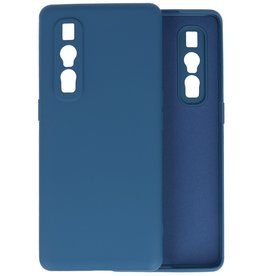 Fashion Color Backcover Hoesje Oppo Find X2 Pro - Navy
