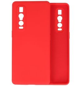 Fashion Color Backcover Hoesje Oppo Find X2 Pro - Rood