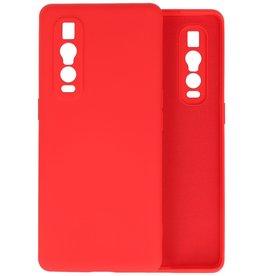 Oppo Find X2 Pro Hoesje Fashion Backcover Telefoonhoesje Rood