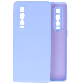 Fashion Color Backcover Hoesje Oppo Find X2 Pro - Paars