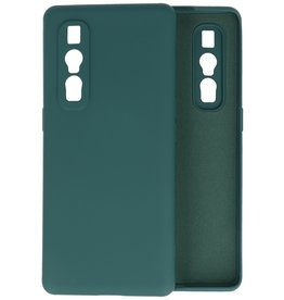 Fashion Color Backcover Hoesje Oppo Find X2 Pro - Donker Groen