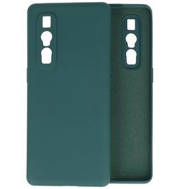 Oppo Find X2 Pro Hoesje Fashion Backcover Telefoonhoesje Donker Groen