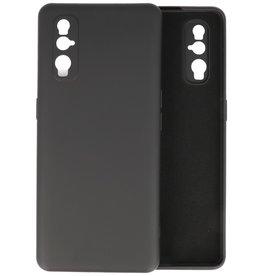 Oppo Find X2 Hoesje Fashion Backcover Telefoonhoesje Zwart