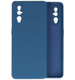 Fashion Color Backcover Hoesje Oppo Find X2 - Navy
