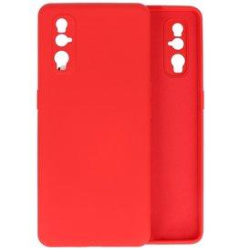 Oppo Find X2 Hoesje Fashion Backcover Telefoonhoesje Rood