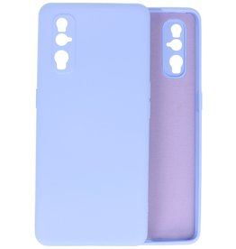 Fashion Color Backcover Hoesje Oppo Find X2 - Paars