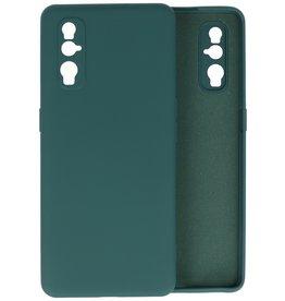 Oppo Find X2 Hoesje Fashion Backcover Telefoonhoesje Donker Groen