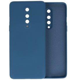 OnePlus 8 Hoesje Fashion Color Backcover Telefoonhoesje Navy