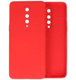 OnePlus 8 Hoesje Fashion Color Backcover Telefoonhoesje Rood