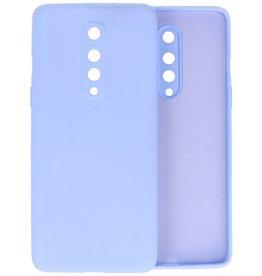 OnePlus 8 Hoesje Fashion Color Backcover Telefoonhoesje Paars